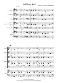 Auld Lang Syne for String Quartet