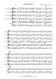 Auld Lang Syne for Saxophone Quartet