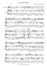 Air on a G String for Euphonium and Piano