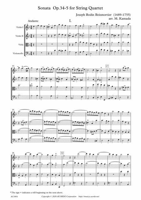 Sonata Op.34-5 for String Quartet