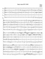 Fugue for organ, BWV 534/II (arrangement for 5 recorders)