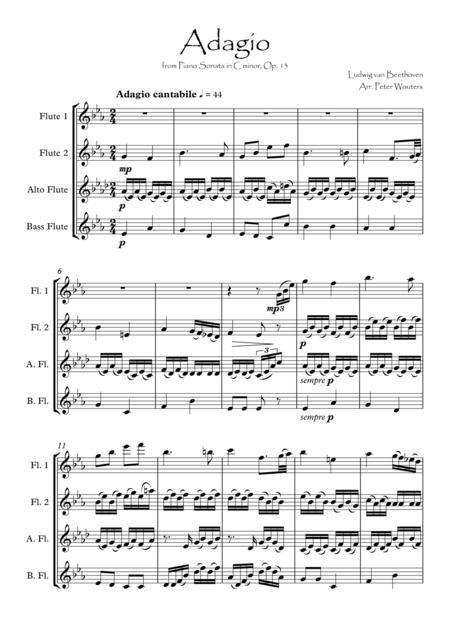 Adagio from Piano Sonata in C minor, Op. 13
