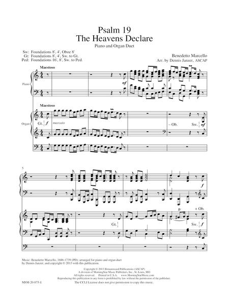 Psalm 19 The Heavens Declare