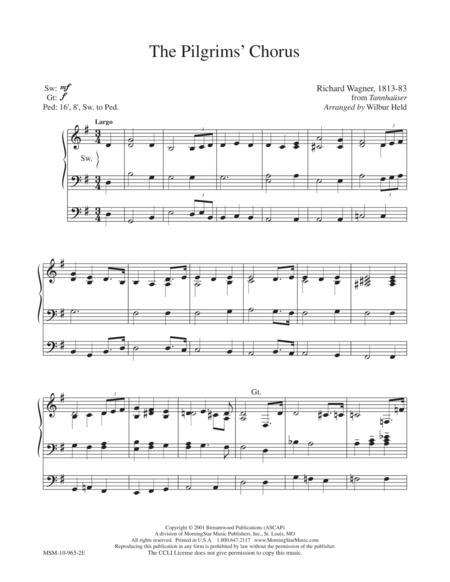 The Pilgrim's Chorus (from Tannhaser - R. Wagner)