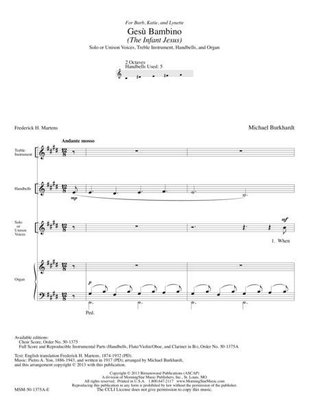 Gesu Bambino (Full Score & Parts)