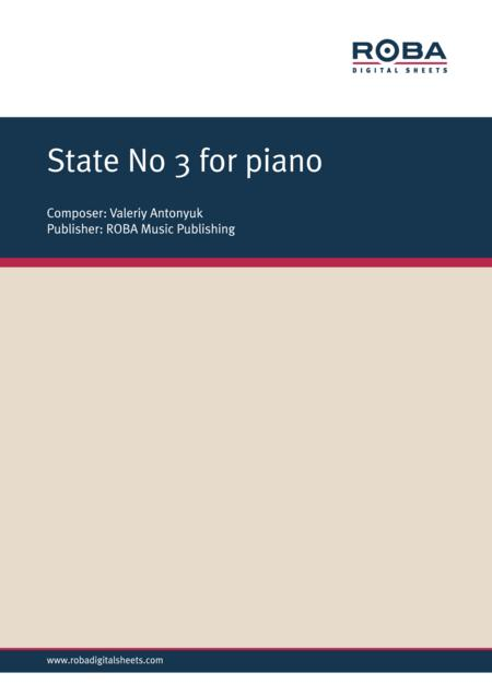 State No. 3 for piano