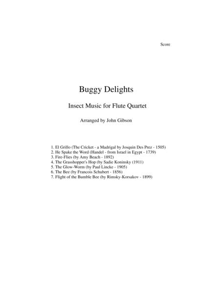 Buggy Delights, Insect Music for Flute Quartet SCORE ONLY