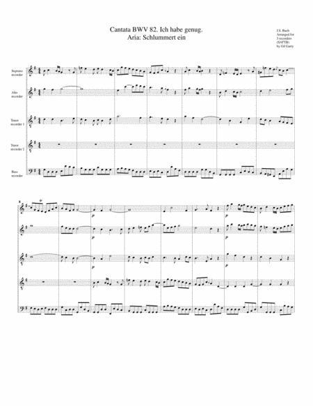 Aria: Schlummert ein from Cantata BWV 82