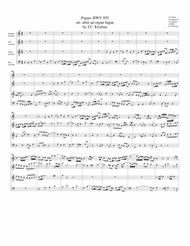 Fugue arranged after an organ fugue by J.C. Erselius, BWV 955 (arrangement for 4 recorders)