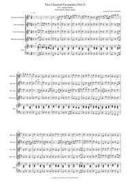 2 Classical Favourites for Saxophone Quartet (volume two)