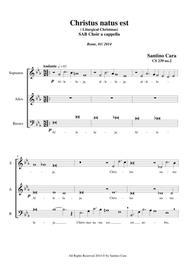 Christus natus est (Christmas) SAB Choir a cappella