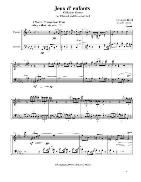 Bizet - Children's Games for Clarinet and Bassoon Duet