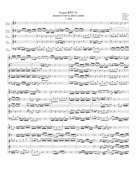 Aria: Jauchzet Gott in allen Landen from Cantata BWV 51