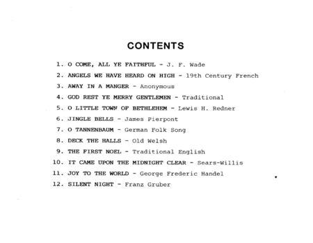 Christmas Carols For Sax Quartet - Bb Tenor Sax