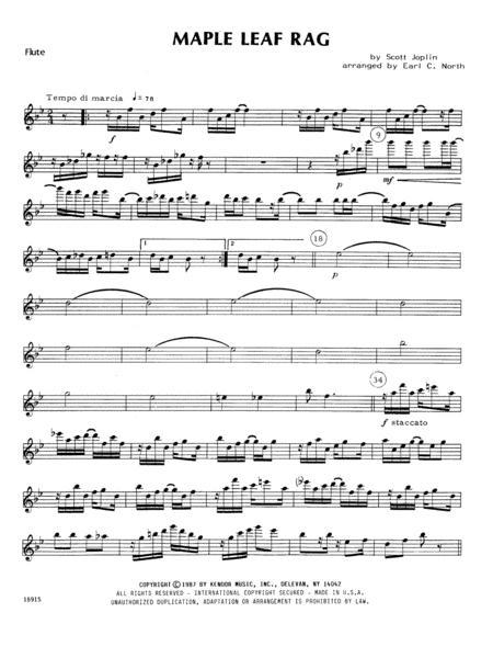 Maple Leaf Rag - Flute