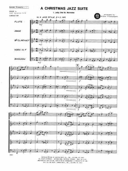 Christmas Jazz Suite, A - Full Score