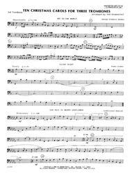 Ten Christmas Carols For 3 Trombones - 3rd Trombone