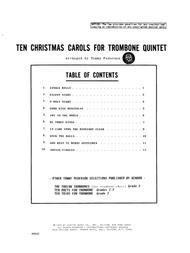 Ten Christmas Carols For Trombone Quintet - 1st Trombone
