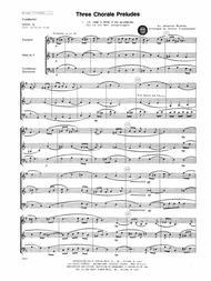 Three Chorale Preludes - Full Score