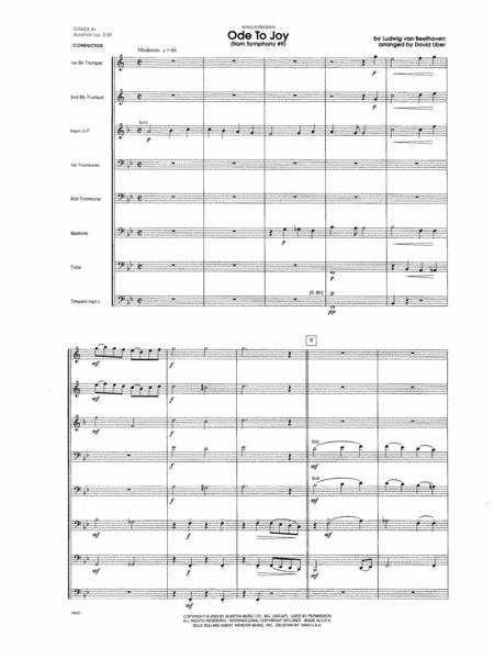 Ode To Joy (From Symphony #9) - Full Score
