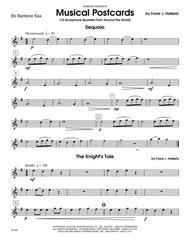 Musical Postcards (10 Saxophone Quartets From Around The World) - Eb Baritone Saxophone