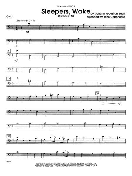Sleepers, Wake (Cantata #140) - Cello