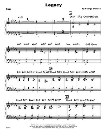 Download Legacy Piano Sheet Music By George Shutack Sheet Music Plus
