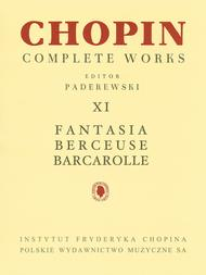 Fantasia, Berceuse, Barcarolle
