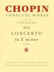 Piano Concerto in E Minor Op. 11