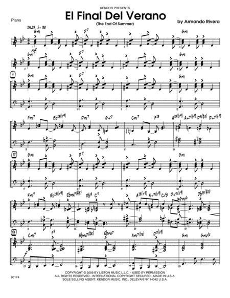 El Final Del Verano (The End Of Summer) - Piano