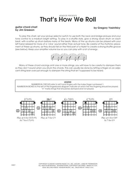 Download That\'s How We Roll - Guitar Chord Chart Sheet Music By Greg ...