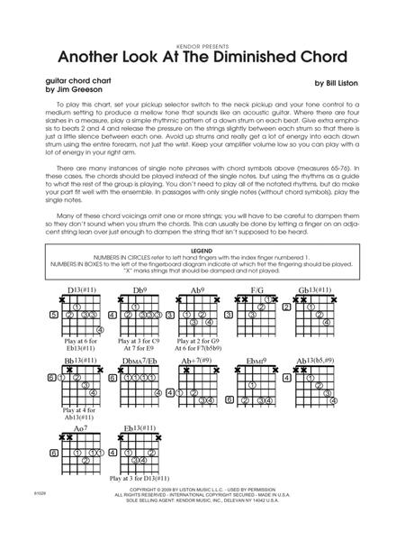Download Another Look At The Diminished Chord - Guitar Chord Chart ...