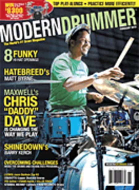 Modern Drummer Magazine Back Issue - February 2010