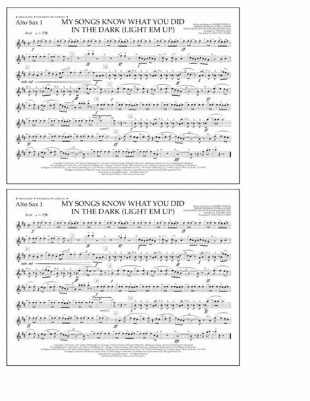 My Songs Know What You Did in the Dark (Light 'Em Up) - Alto Sax 1