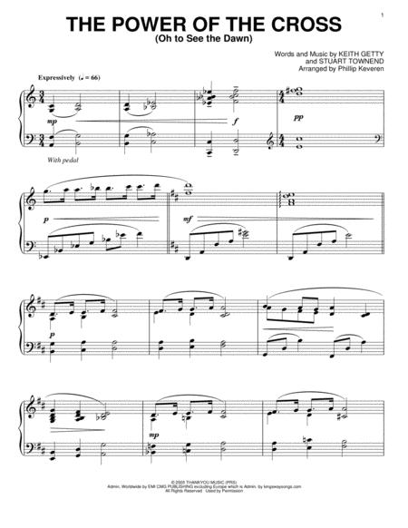The Power Of The Cross (Oh To See The Dawn) [Jazz version] (arr. Phillip Keveren)