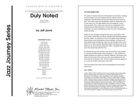 Download Duly Noted - Full Score Sheet Music By Jeff Jarvis