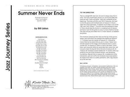 Summer Never Ends - Full Score