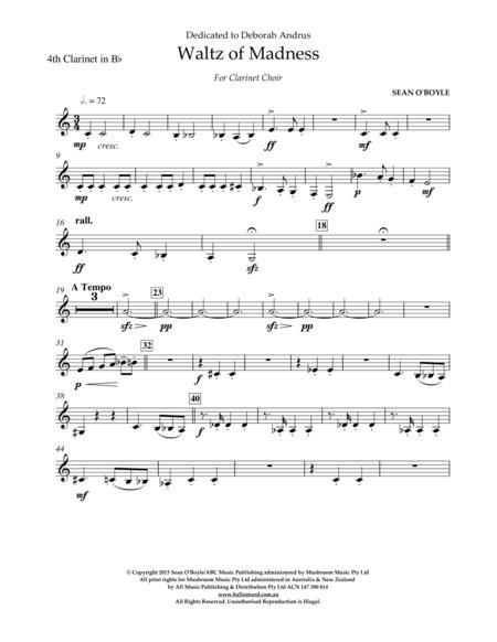 Waltz Of Madness - Bb Clarinet 4