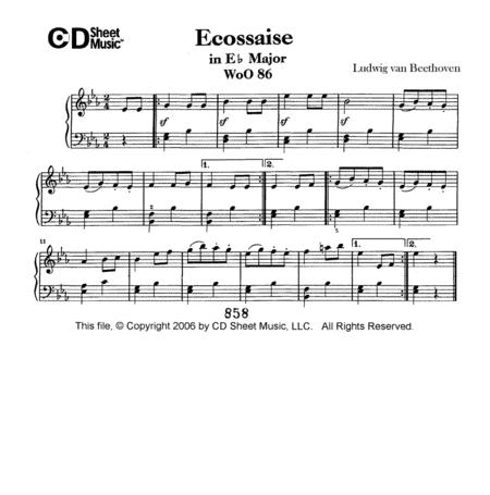 Ecossaise In E-flat Major, Woo 86