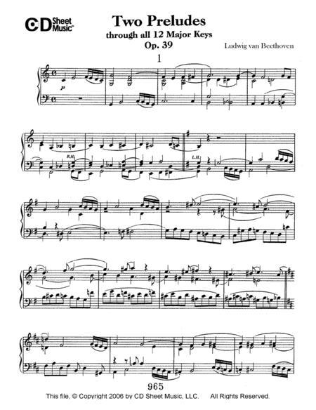Preludes (2) Through All 12 Major Keys, Op. 39
