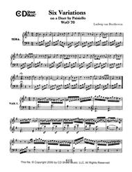 Variations (6) On A Duet By Paisiello, Woo 70