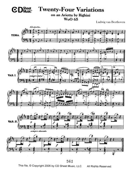 Variations (24) On An Arietta By Righini, Woo 65