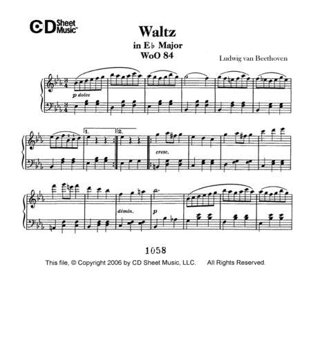 Waltz In E-flat Major, Woo 84