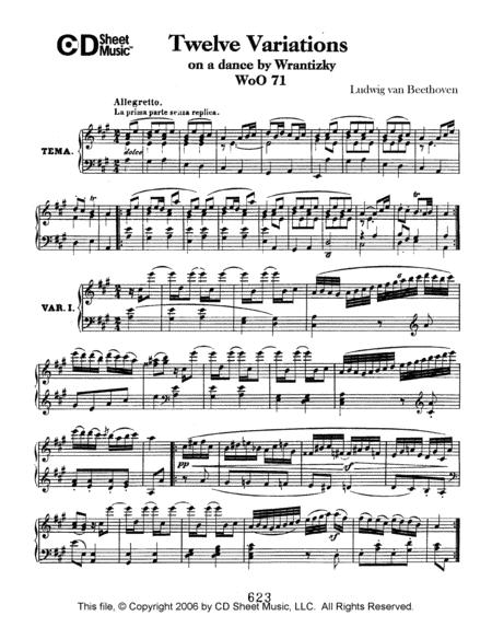 Variations (12) On A Dance By Wrantizky, Woo 71