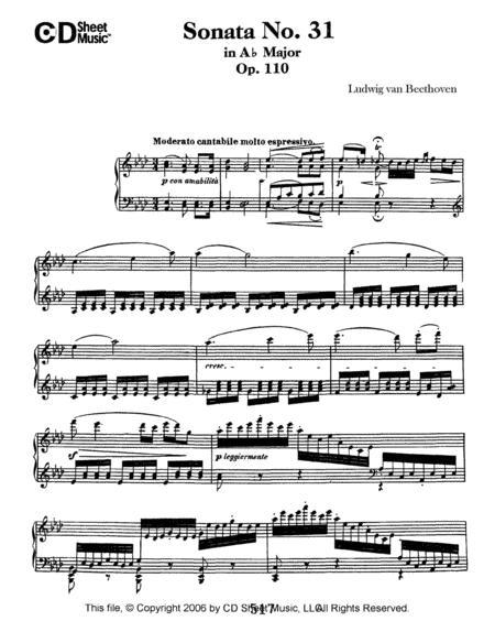 Sonata No. 31 In A-flat Major, Op. 110