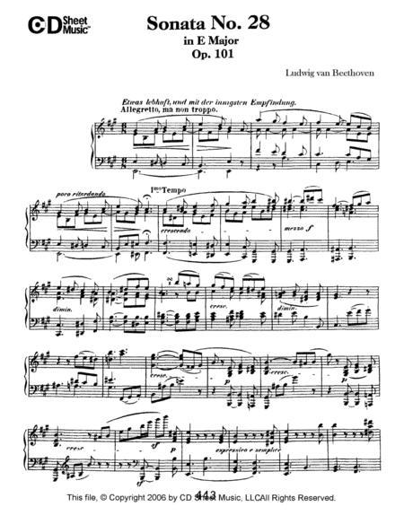 Sonata No. 28 In A Major, Op. 101
