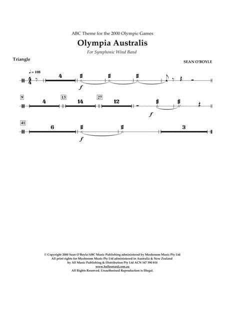 Olympia Australis (Symphonic Wind Band) - Triangle