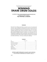 Winning Snare Drum Solos