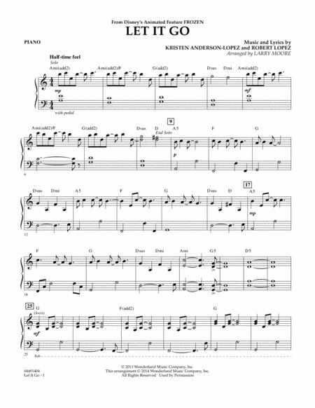 Download Let It Go - Piano Sheet Music By Kristen Anderson-Lopez
