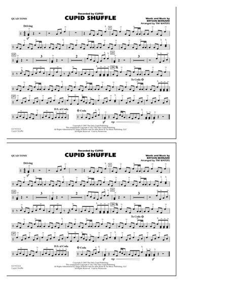 Cupid Shuffle - Quad Toms